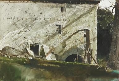 View 1. Thumbnail of Lot 59. ANDREW WYETH   CHAIN HOIST.