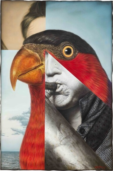 View 1. Thumbnail of Lot 129. Ronald Ventura 羅納德·溫杜拿 | Untitled (Bird Man) 無題(鳥人).