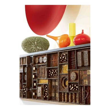 """View 2. Thumbnail of Lot 414. """"Sculpture-Front"""" Sideboard."""