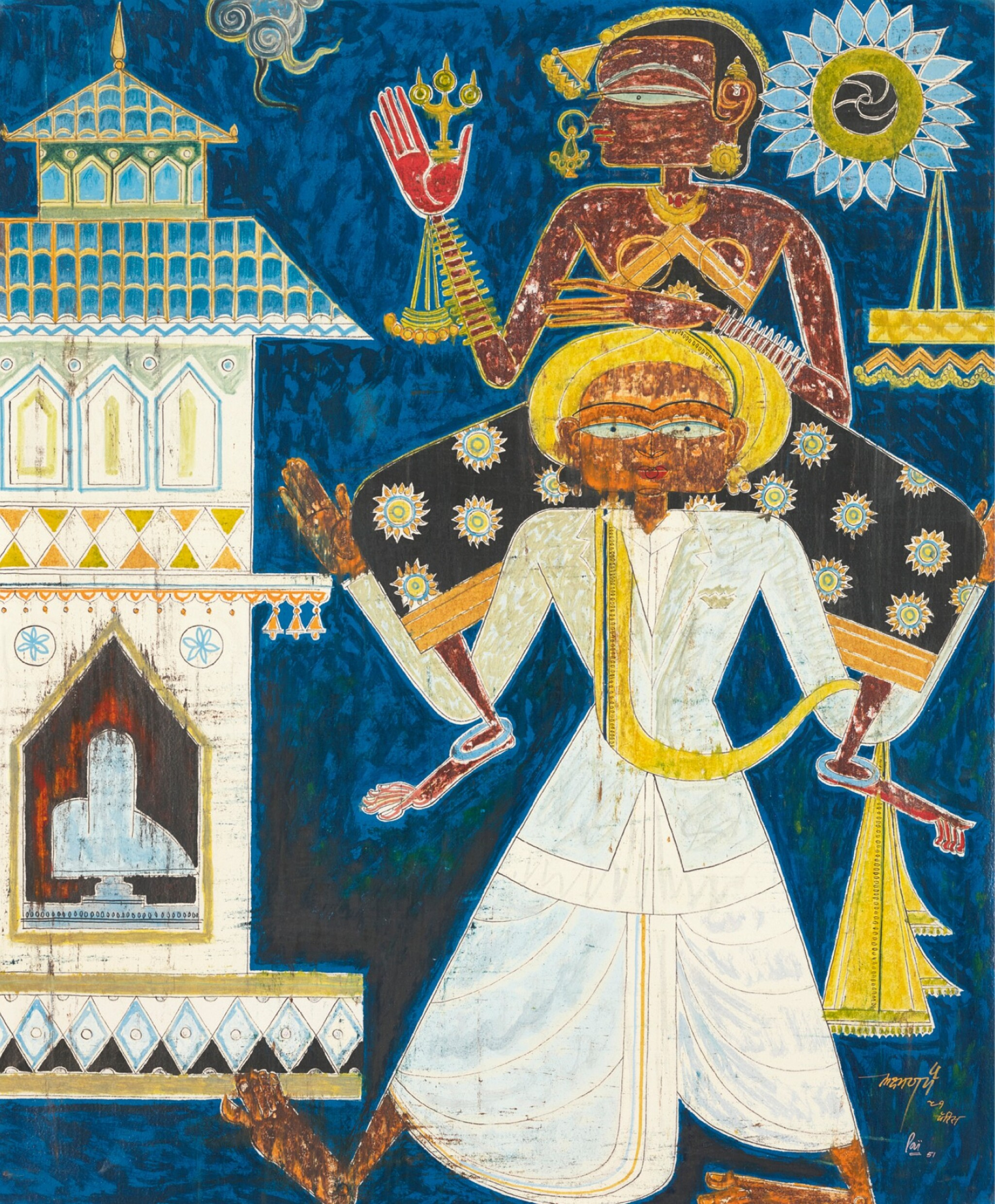 View full screen - View 1 of Lot 126. LAXMAN PAI | Untitled (Couple).
