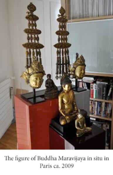 View 9. Thumbnail of Lot 28. Exceptionnelle statue du Bouddha Maravijaya en alliage de cuivre doré Royaume de Dali (937-1253), Province de Yunnan, XIIE siècle | 大理國 十二世紀 鎏金銅合金釋迦牟尼佛坐像 | An exceptional gilt-copper alloy figure of Buddha Maravijaya, Dali Kingdom (937-1253), Yunnan Province, 12th century .