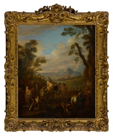 View 3. Thumbnail of Lot 81. A group of soldiers traveling through the country.