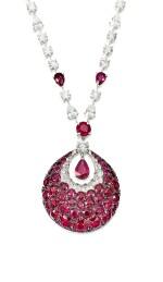 'Bombé Classic' Ruby and Diamond Pendent Necklace | 格拉夫 | 'Bombé Classic' 紅寶石 配 鑽石 項鏈