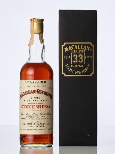 View 1. Thumbnail of Lot 2018. Macallan Glenlivet Gordon & MacPhail 33 Year Old 43.0 abv NV (1 BT75).