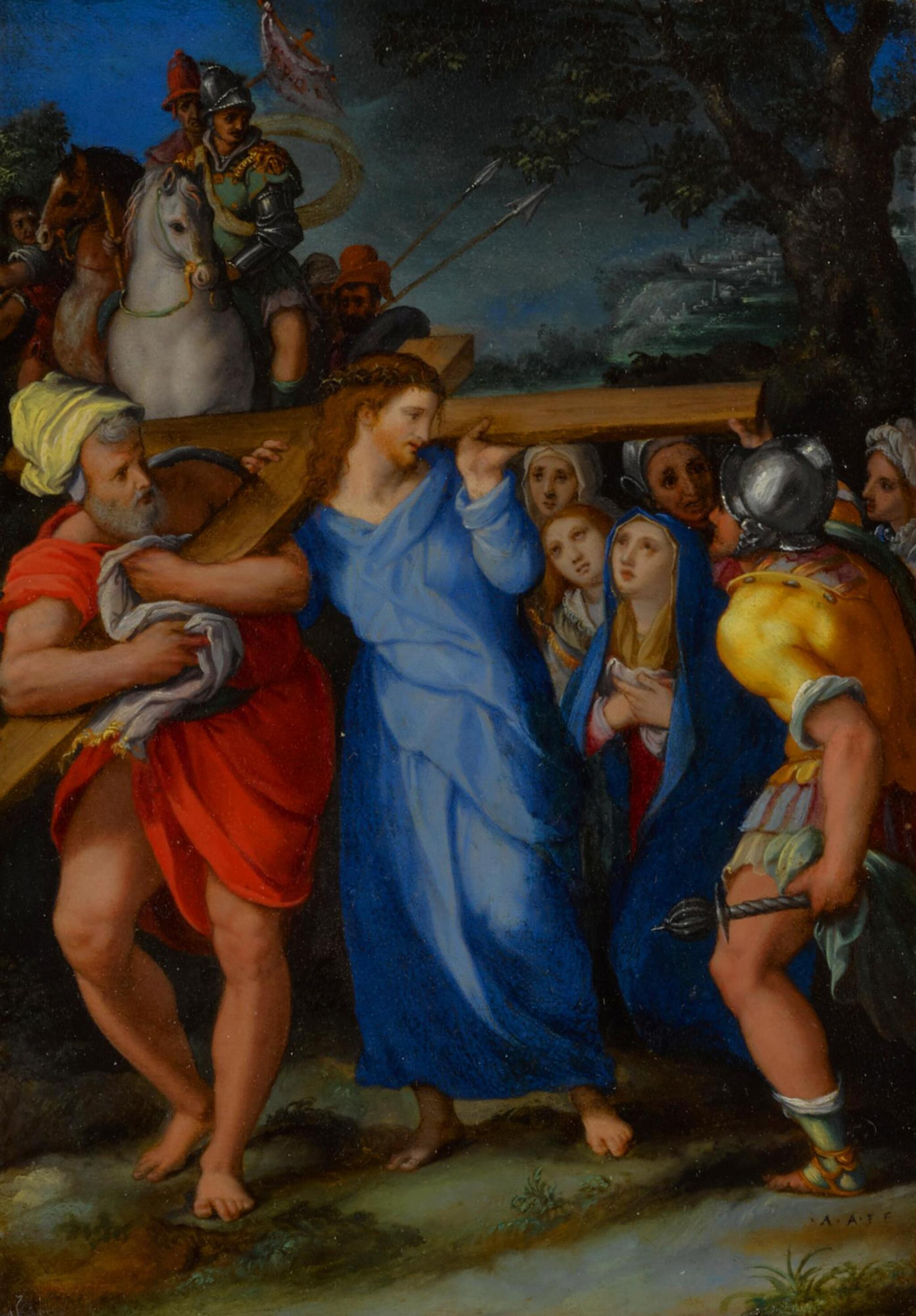 View full screen - View 1 of Lot 12. Christ Carrying the Cross.