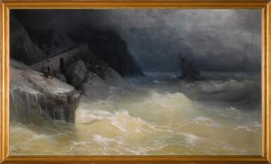 View 2. Thumbnail of Lot 28. Shipwreck off the Black Sea Coast.