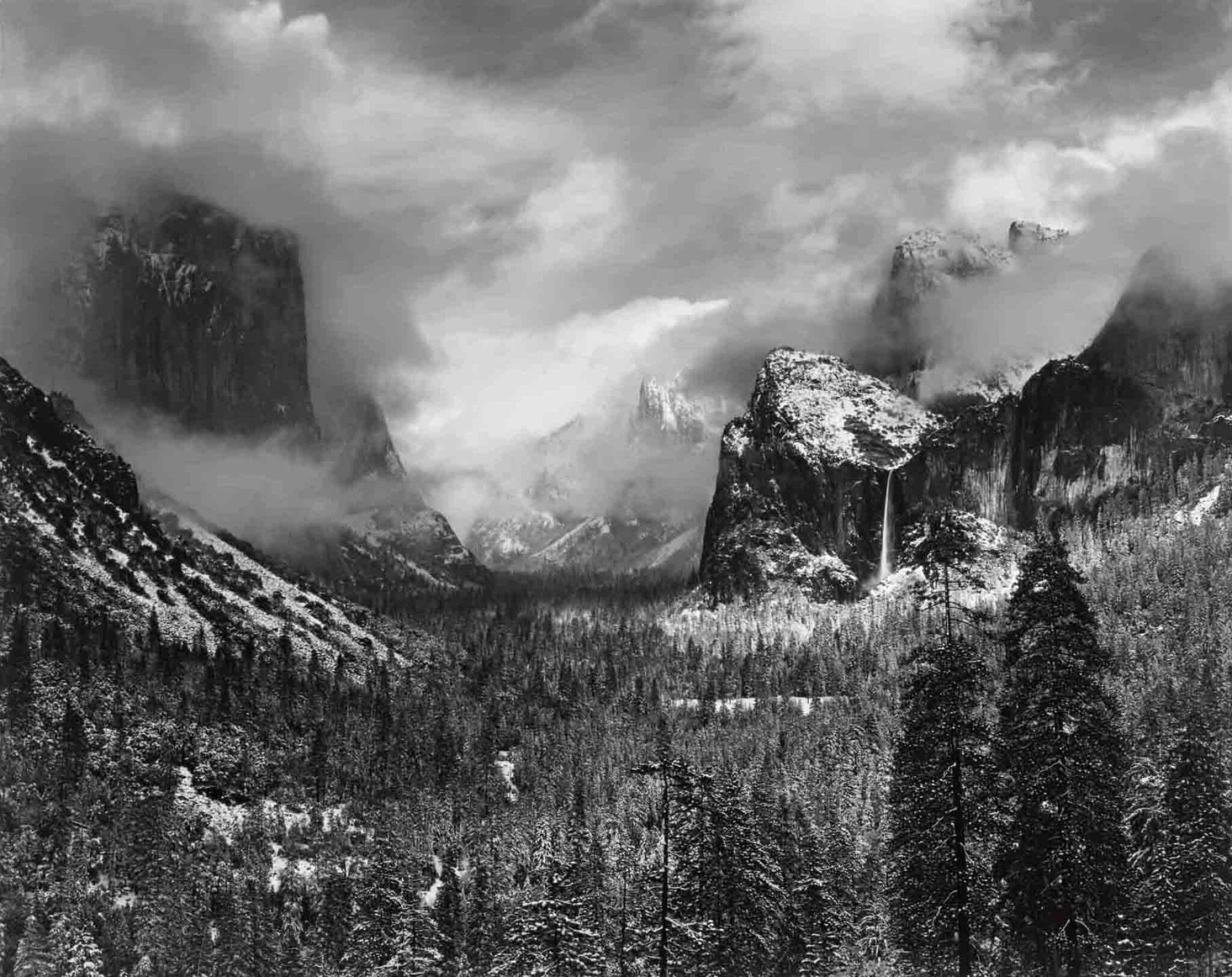 View 1 of Lot 9. Clearing Winter Storm, Yosemite National Park, California.