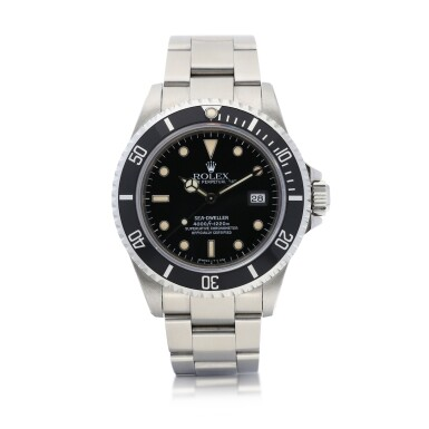 View 1. Thumbnail of Lot 8037. Rolex | Sea-Dweller, Reference 16600, A stainless steel wristwatch with date and bracelet, Circa 1991 | 勞力士 | Sea-Dweller 型號16600   精鋼鏈帶腕錶,備日期顯示,約1991年製.