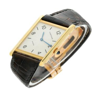 View 2. Thumbnail of Lot 221. Reference 2488 Tank Asymétrique  A limited edition yellow gold asymmetric wristwatch, Made in 1996 .