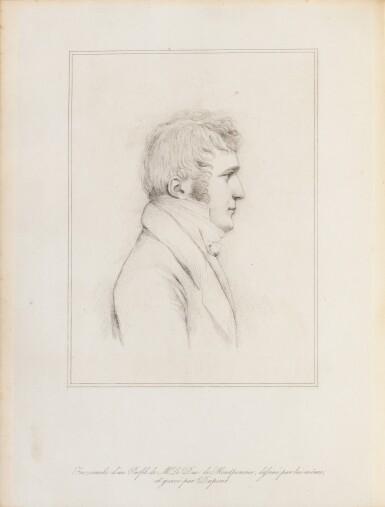 View 3. Thumbnail of Lot 122. Mémoires. Imprimerie Royale, 1837. Maroquin bleu-nuit au chiffre du roi Louis-Philippe..