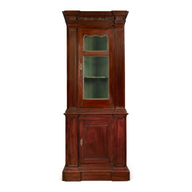 A GEORGE II STYLE MAHOGANY SIDE CABINET