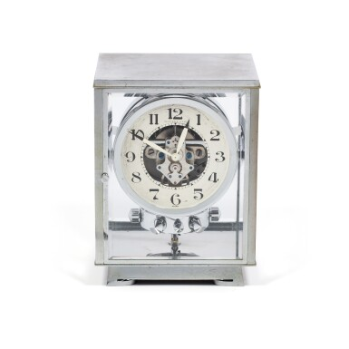 View 1. Thumbnail of Lot 50. J.L. REUTTER | RETAILED BY TIFFANY & CO.: ATMOS,  A RARE AND EARLY CHROME PLATED PERPETUAL CLOCK WOUND BY BAROMETRIC PRESSURE, CIRCA 1935 .
