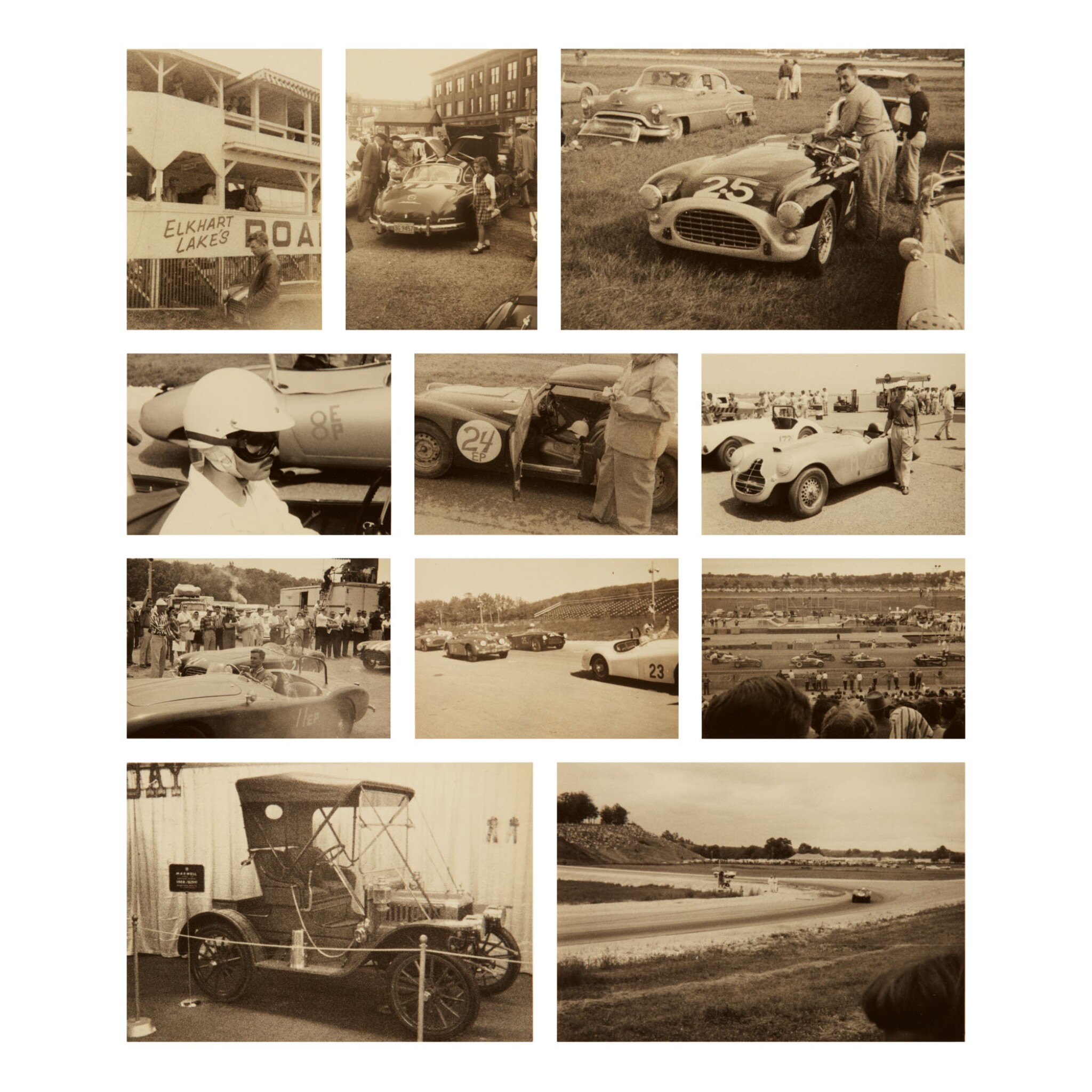 View full screen - View 1 of Lot 105. PHOTOGRAPHER UNKNOWN | SELECTED IMAGES OF CAR RACES AND VINTAGE CARS.