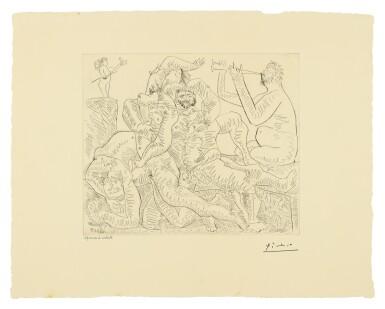 View 1. Thumbnail of Lot 80. PABLO PICASSO   BACCHANALE, AVEC ÉROS EN HAUT À GAUCHE (B. 776; BA. 951).