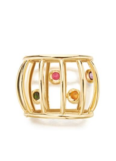 GOLD AND GEM-SET BANGLE-BRACELET, PALOMA PICASSO FOR TIFFANY & CO.