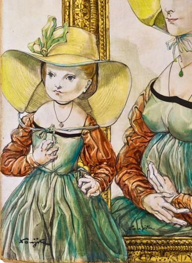 View 2. Thumbnail of Lot 1041. Léonard Tsuguharu Foujita 藤田嗣治 | Le chapeau de sa maman 媽媽的禮帽.