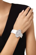 WHITE GOLD AND DIAMOND 'BAIGNOIRE HYPNOSE' WRISTWATCH, CARTIER