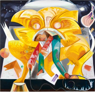 View 1. Thumbnail of Lot 1111. Dana Schutz 戴娜・舒茨 | Lion Eating Its Tamer 獅子吃馴獅人.