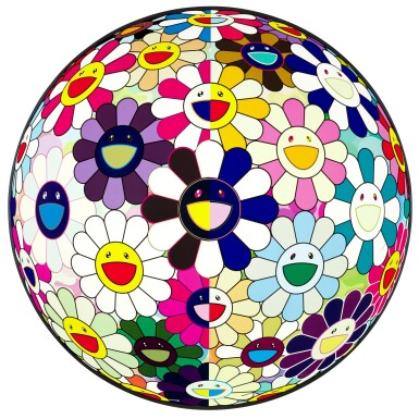 View 1. Thumbnail of Lot 60.  TAKASHI MURAKAMI | FLOWERBALL (3D) FROM THE REALM OF THE DEAD; AND FLOWER DUMPLING.