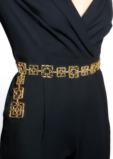 View 5. Thumbnail of Lot 31. LADY'S BELT, 'BYZANTINE', CARTIER, 1970S.