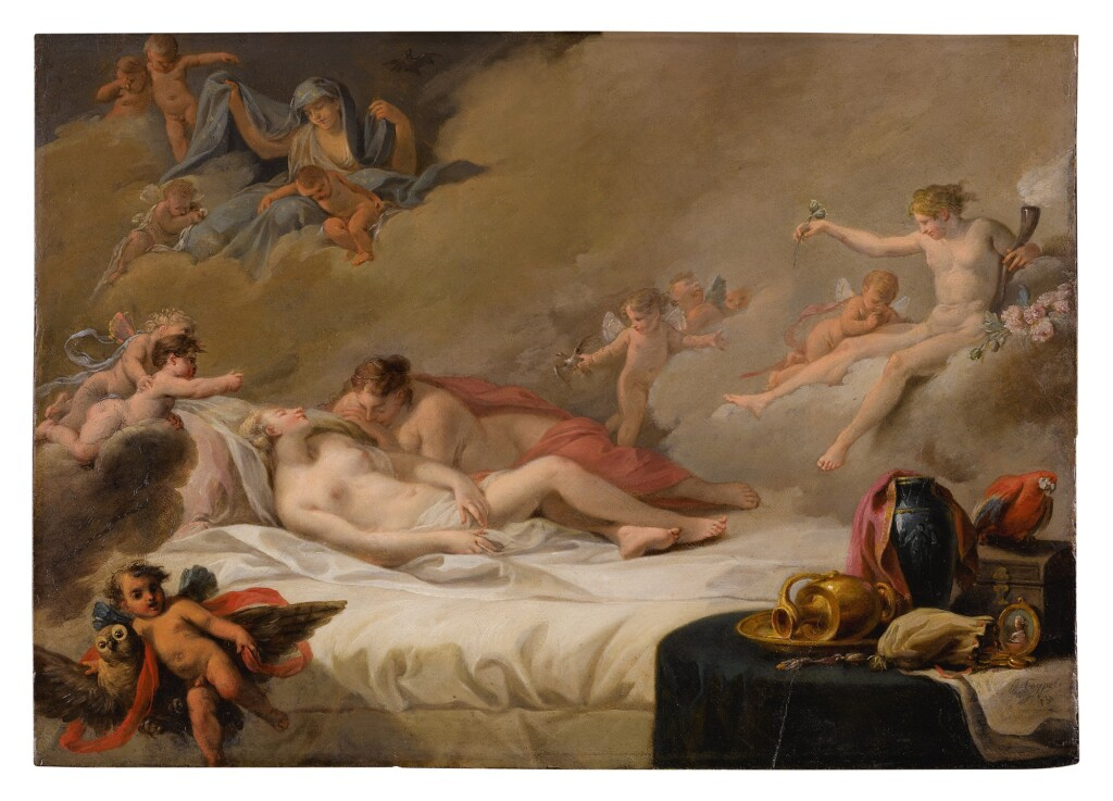 FRENCH SCHOOL, MID 18TH CENTURY   AN ALLEGORY OF SLEEP