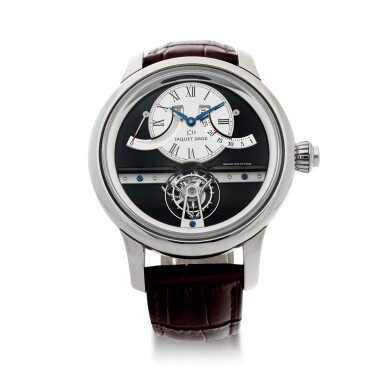 View 1. Thumbnail of Lot 183. REFERENCE J028034201 GRANDE SECONDE TOURBILLON A LIMITED EDITION WHITE GOLD TOURBILLON WRISTWATCH WITH RETROGRADE DATE AND POWER RESERVE INDICATION, MADE IN 2009.