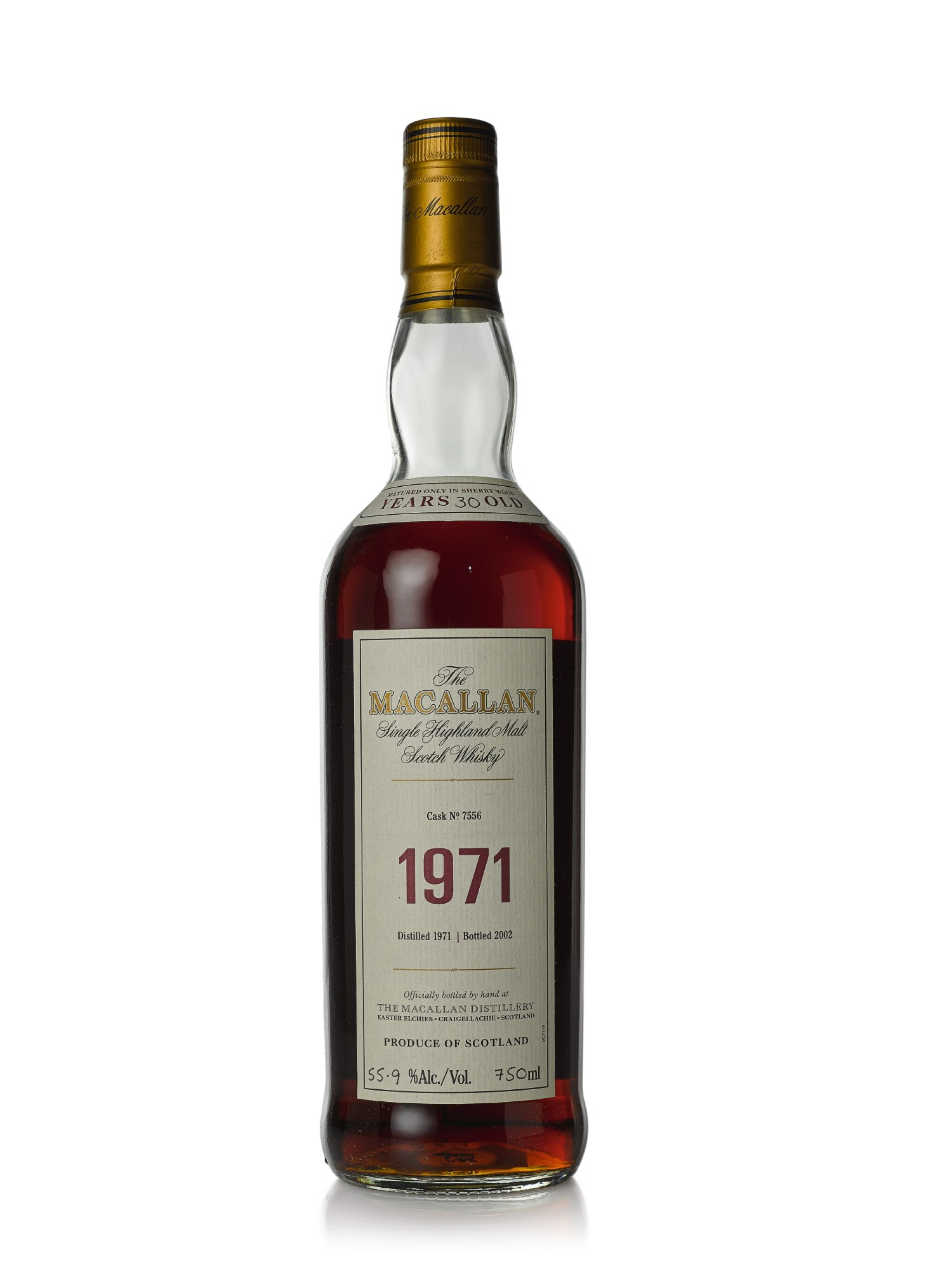 View full screen - View 1 of Lot 2. The Macallan Fine & Rare 30 Year Old 55.9 abv 1971 (1 BT75cl).