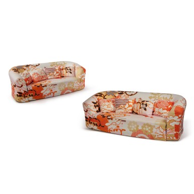 "Pair of ""Print"" Sofas"