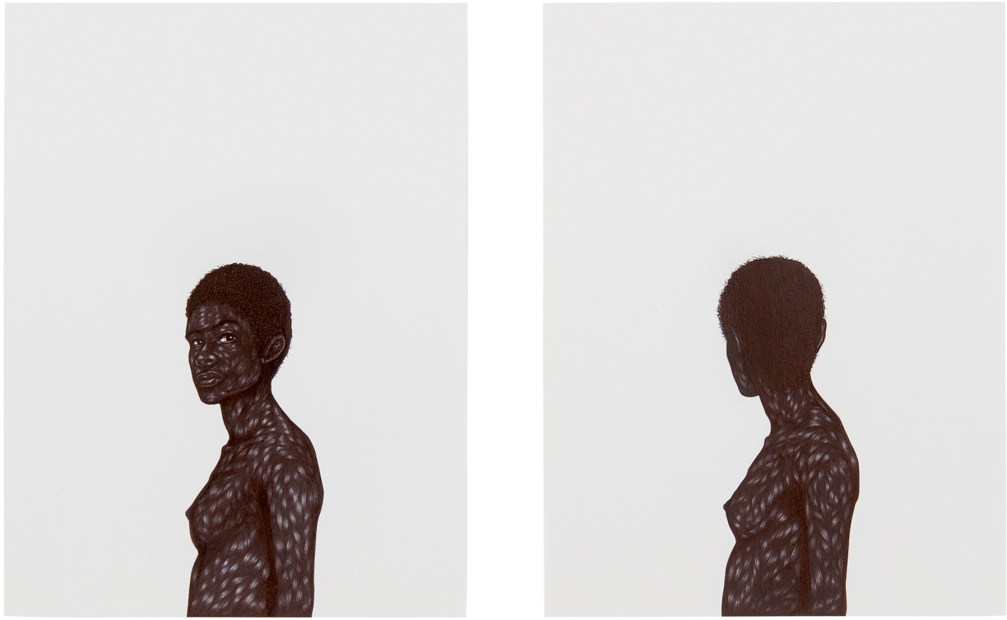 View full screen - View 1 of Lot 202. TOYIN OJIH ODUTOLA | UNTITLED (DIPTYCH).