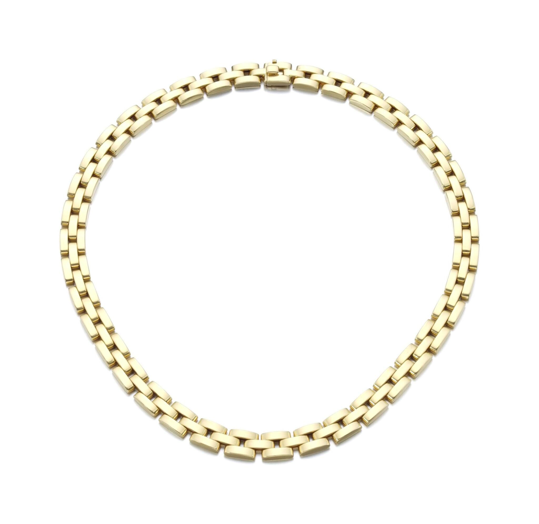 View full screen - View 1 of Lot 97. GOLD NECKLACE, 'MAILLON PANTHÈRE'   CARTIER.