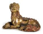 A GILT-BRONZE 'MYTHICAL BEAST' PAPERWEIGHT | 17TH/18TH CENTURY | 十七/十八世紀 鎏金銅瑞獸鎮紙