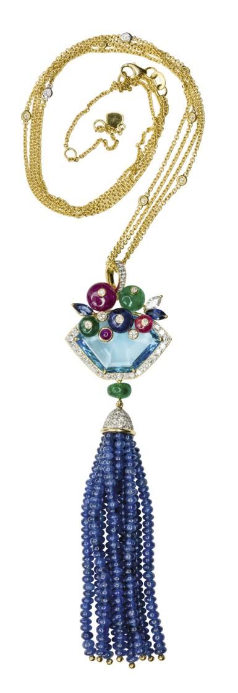 Gem set and diamond pendant, Michele della Valle