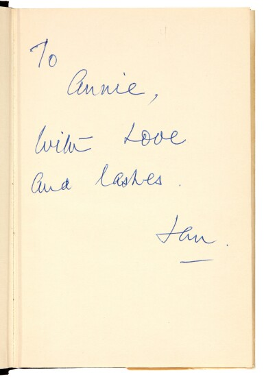 View 1. Thumbnail of Lot 24. FLEMING | From Russia, with Love, 1957, presentation copy inscribed to the author's wife.