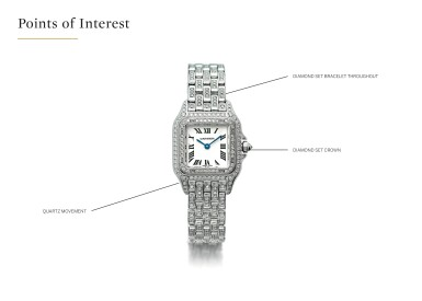 View 4. Thumbnail of Lot 35. CARTIER | REF 1660 PANTHÉRE, A LADY'S WHITE GOLD AND DIAMOND SET WRISTWATCH WITH BRACELET CIRCA 2010.