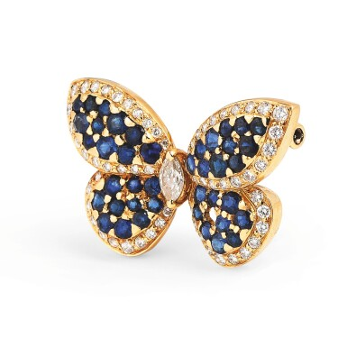 Sapphire and diamond brooch [Broche saphirs et diamants]