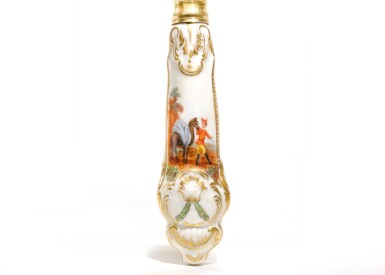 View 3. Thumbnail of Lot 257. A SET OF 17 SILVER-GILT PORCELAIN-MOUNTED FLATWARE FROM THE CATHERINE THE GREAT DESSERT SERVICE, ROYAL PORCELAIN FACTORY, BERLIN (K.P.M.), 1770-1772.