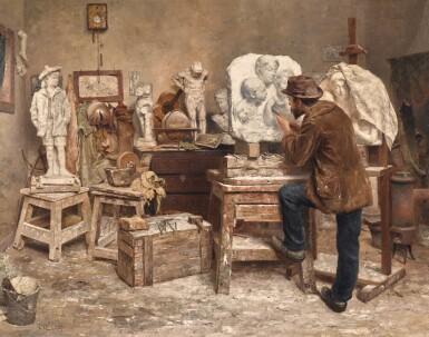 EVERT PIETERS | The Sculptor Alphonse van Beurden in his Studio