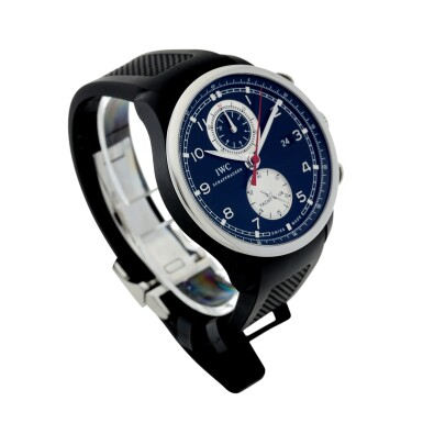 View 3. Thumbnail of Lot 89. IWC   REFERENCE IW3902-08 PORTUGIESER YACHT CLUB CHRONOGRAPH BOUTIQUE EDITION  A LIMITED EDITION STAINLESS STEEL AND RUBBER AUTOMATIC FLYBACK CHRONOGRAPH WRISTWATCH WITH DATE, ONE OF 250, CIRCA 2014.