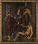 FLEMISH SCHOOL, 18TH CENTURY | Saint Peter and Saint John heal a cripple at the gate of the Temple