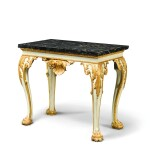 A GEORGE II STYLE PARCEL-GILT AND PAINTED TABLE