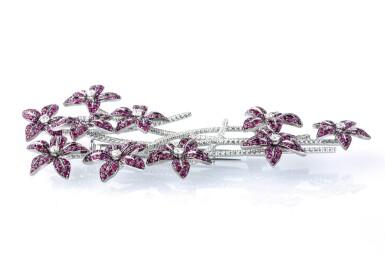 Ruby and diamond brooch, Michele della Valle