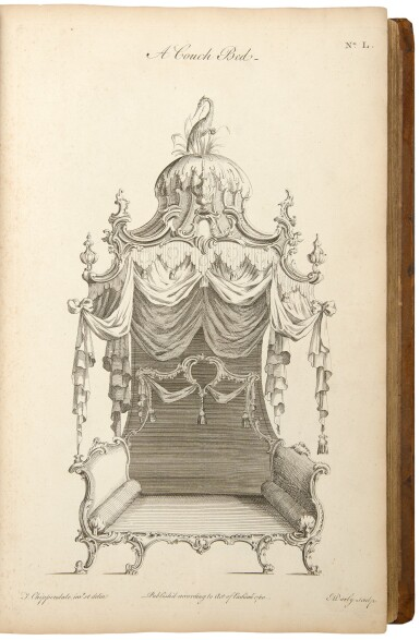 View 5. Thumbnail of Lot 33. Thomas Chippendale. The Gentleman and Cabinet-Maker's Director: London: 1762.