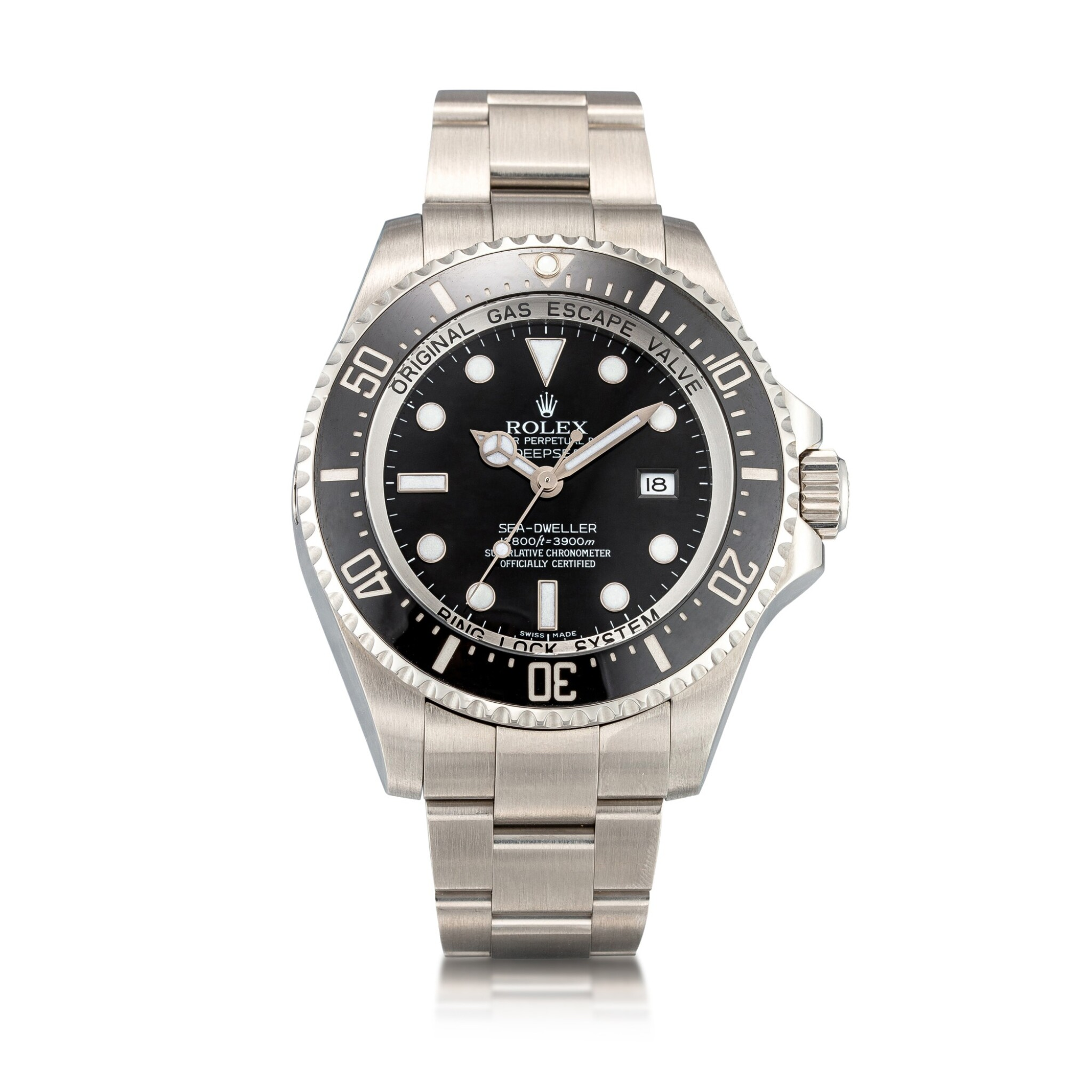 View 1 of Lot 8033. Rolex | Sea-Dweller Deepsea, Reference 116660, A stainless steel wristwatch with date and bracelet, Circa 2010 | 勞力士 | Sea-Dweller Deepsea 型號116660   精鋼鏈帶腕錶,備日期顯示,約2010年製.