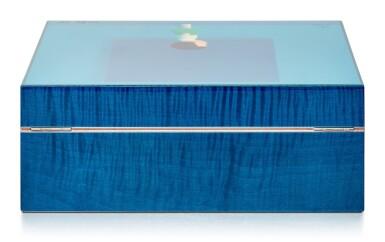 View 3. Thumbnail of Lot 1. Liu Ye 劉野 X Elie Bleu l Blue Sycamore Humidor 藍色懸鈴木雪茄盒.