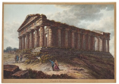 View 4. Thumbnail of Lot 111. A) View of The Temple of Concord, Agrigento B) View of The Temple of Vulcan, Agrigento C) View of the Lake of Averno and The Temple of Proserpina near Naples.
