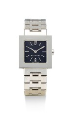 BULGARI | QUADRARD, REFERENCE SQ 22 SS, A STAINLESS STEEL WRISTWATCH WITH BRACELET, CIRCA 2000