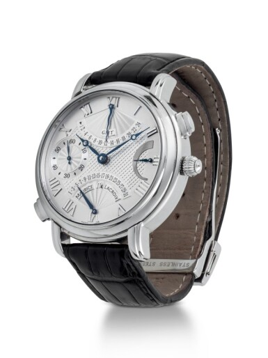 JUNGHANS AND MAURICE LACROIX | TWO STAINLESS STEEL WRISTWATCHES  CIRCA 2014 AND 2007