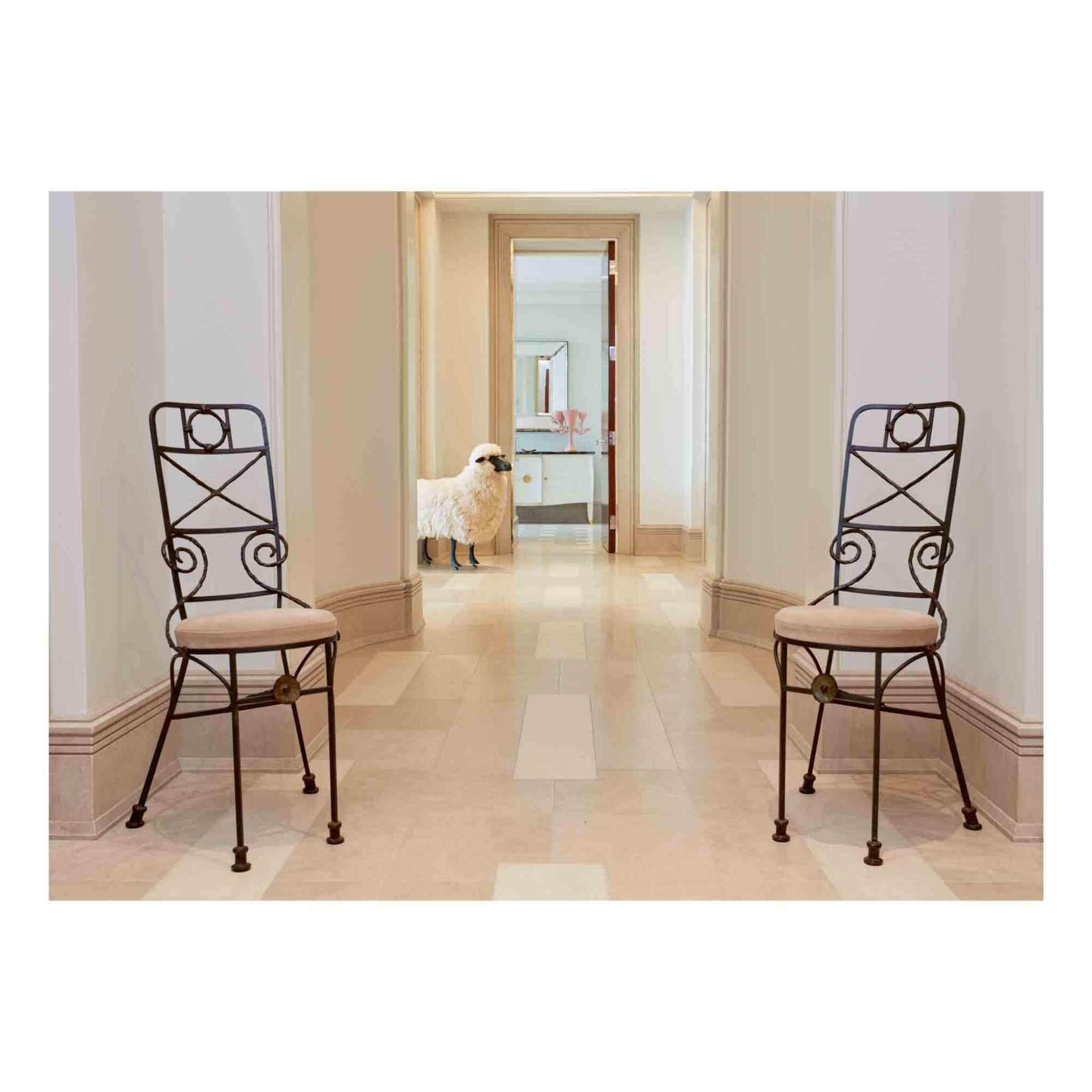 "View full screen - View 1 of Lot 2. Pair of ""Fondation Maeght"" Side Chairs."
