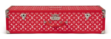 View 2. Thumbnail of Lot 57. LOUIS VUITTON X SUPREME   BOITE SKATEBOARD TRUNK, WITH DECK AND TRUCKS.