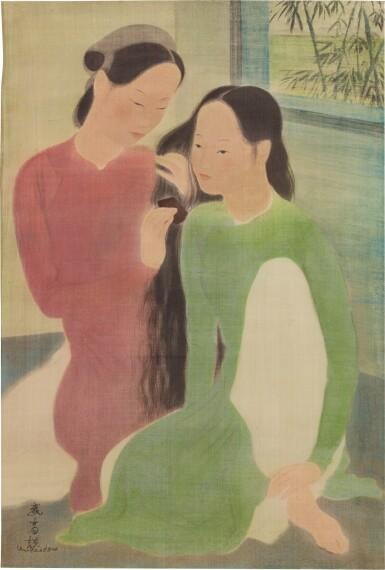 View 1. Thumbnail of Lot 1013. Vu Cao Dam 武高談   Deux Femmes 兩女士.